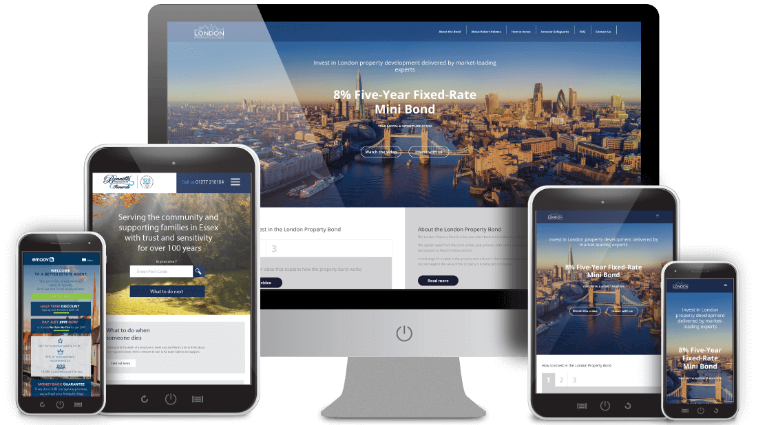 Mobile website design